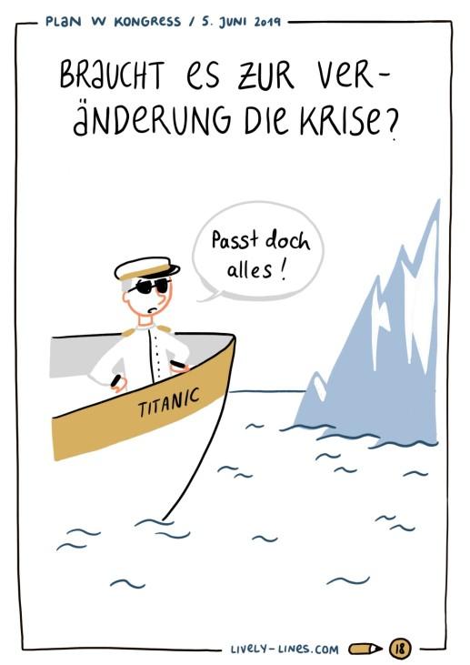 Titanic Lisa Frühbeis Livezeichnung