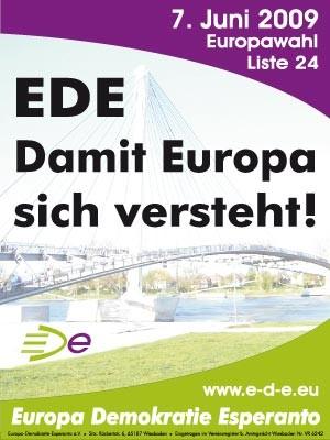 Esperanto Partei Demokratie, Europawahl