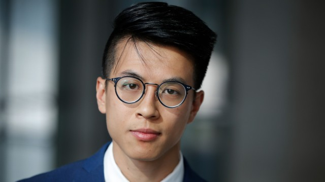 Demokratie in China: Der 25-jährige Ray Wong ist aus Hongkong geflohen und hat als politischer Flüchtling in Deutschland Asyl erhalten.