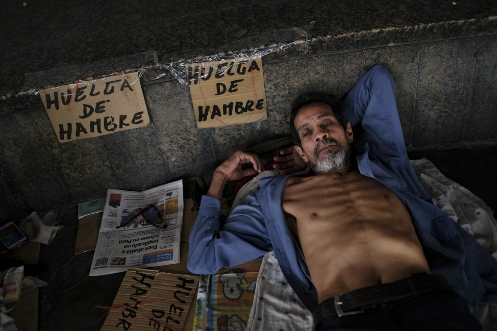***BESTPIX*** Former Oil Workers on Hunger Strike Claiming Unpaid Labour Liabilities since 2007