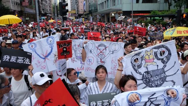 Hongkonger Auslieferungsgesetz - Protest