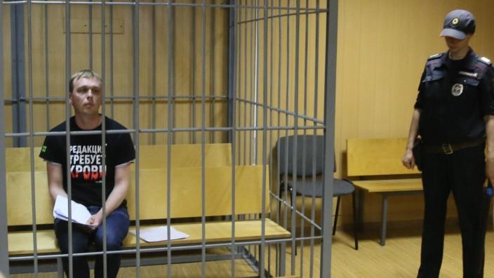 MOSCOW RUSSIA JUNE 8 2019 Ivan Golunov investigative journalist of the online newspaper Meduza