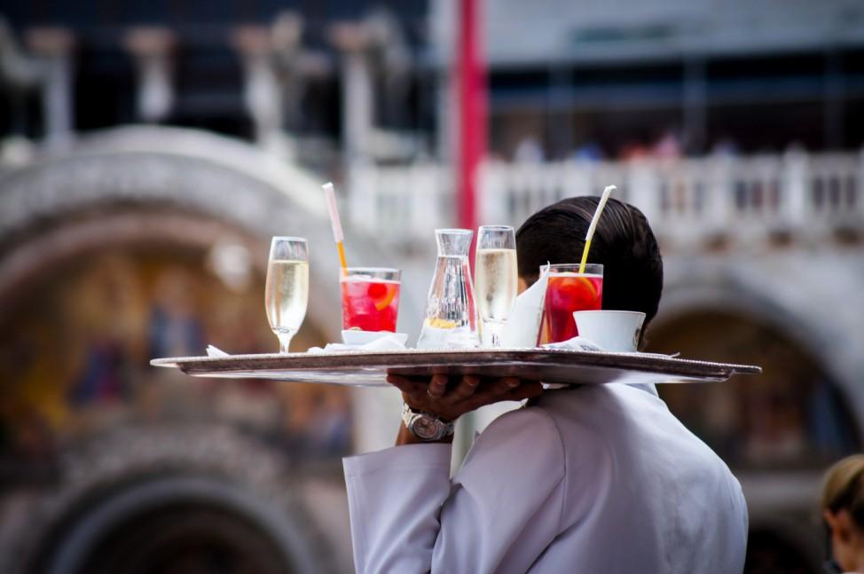 Trinkgeld Tip Italien italy venice venedig restaurant bar