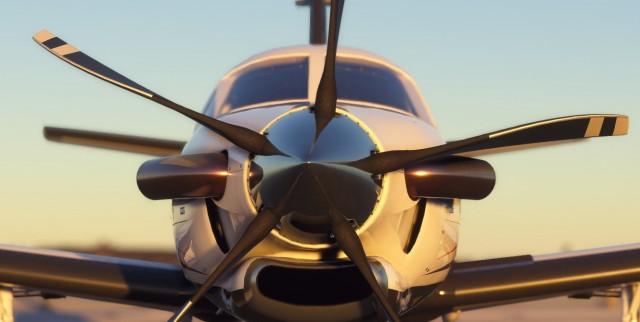 Screenshot Microsoft Flight Simulator