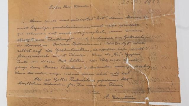Vorstellung der Untersuchungsergebnisse zum Einstein-Brief