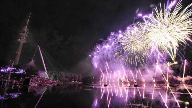 Feuerwerk beim Münchner Sommernachtstraum, 2012