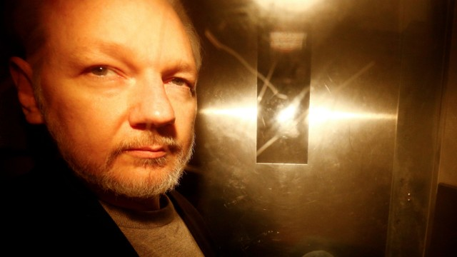 FILE PHOTO: FILE PHOTO: WikiLeaks founder Julian Assange leaves Southwark Crown Court after being sentenced in London