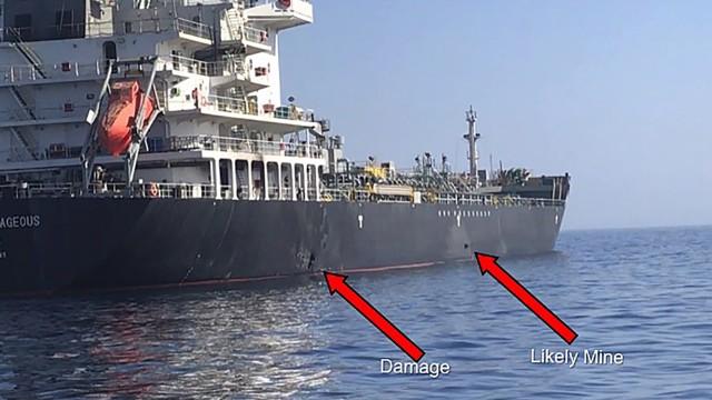 Präsentation des US-Militärs zum mutmaßlichen Angriff auf zwei Tanker im Golf von Oman
