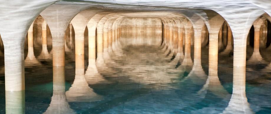 Ressourcen: Hier wird Wasser in einem Hochbehälter im Forstenrieder Park nahe München gelagert.