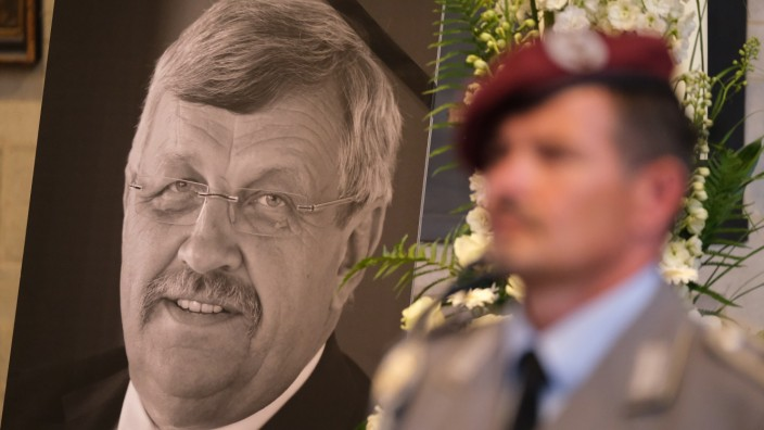 Memorial Service For Murdered Politician Walter Lübcke