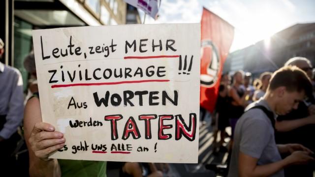Kundgebung gegen rechte Gewalt