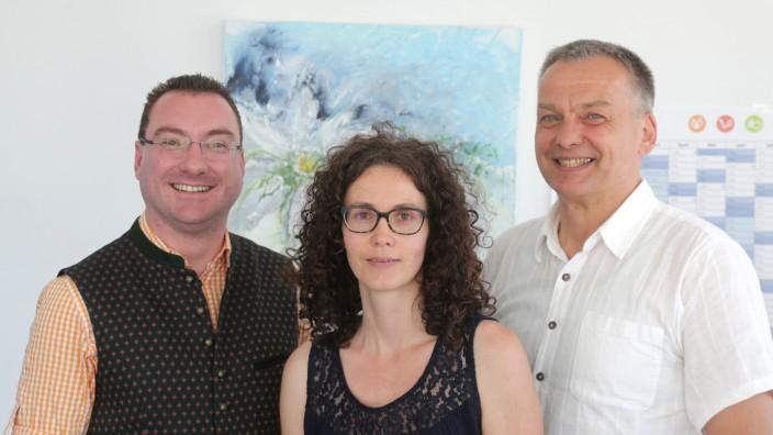 Musikschule Hallbergmoos-Neufahrn: Harald Reents, Cornelia Fischer und Franz Heilnmeier (von links) bilden den Vorstand der neuen Musikschule Hallbergmoos-Neufahrn.