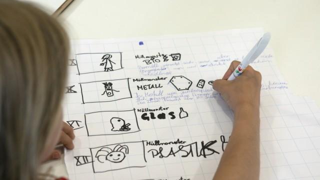 Heidetreff/Nachbarschaftstreff, Karl-Köglsperger-Straße 13 in Freimann: Projekt des Vereins Kinderschutz München: Kinder und Jugendliche aus dem Stadtteil machen einen Film zum Thema Müll