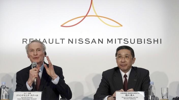 Jean-Dominique Senard, Hiroto Saikawa, Osamu Masuko