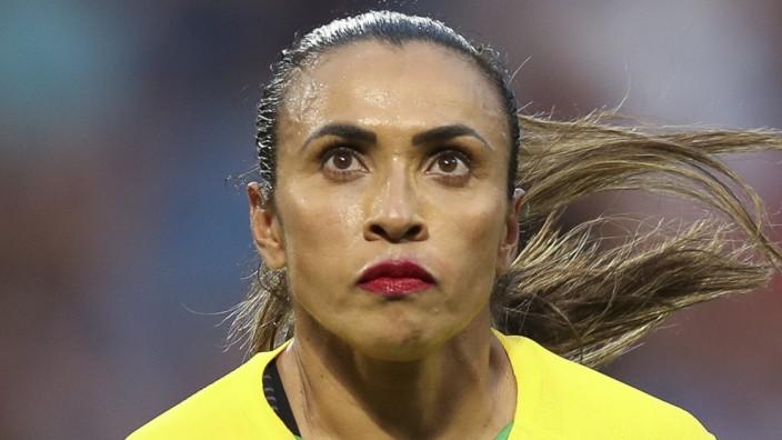 Martas Botschaft: Marta im Spiel gegen Frankreich.
