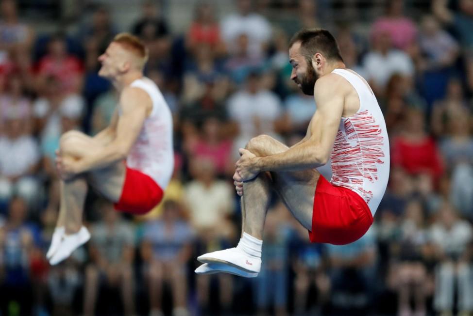 2019 European Games - Trampoline Gymnastics - Men's Synchronised