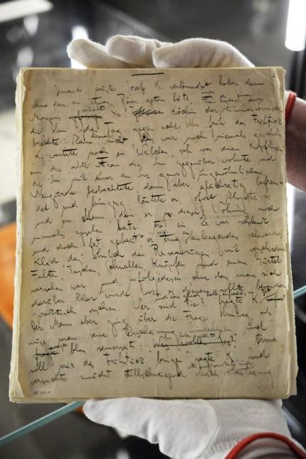 Kafka-Original im Deutschen Literaturarchiv Marbach