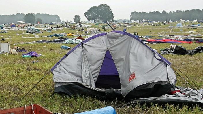 Zeltplatz nach Hurricane-Festival