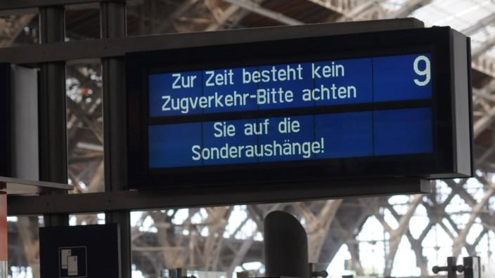 Vier Tage Vollsperrung am Hauptbahnhof Leipzig bis zu 74 000 Fahrgäste täglich betroffen Am Mittw