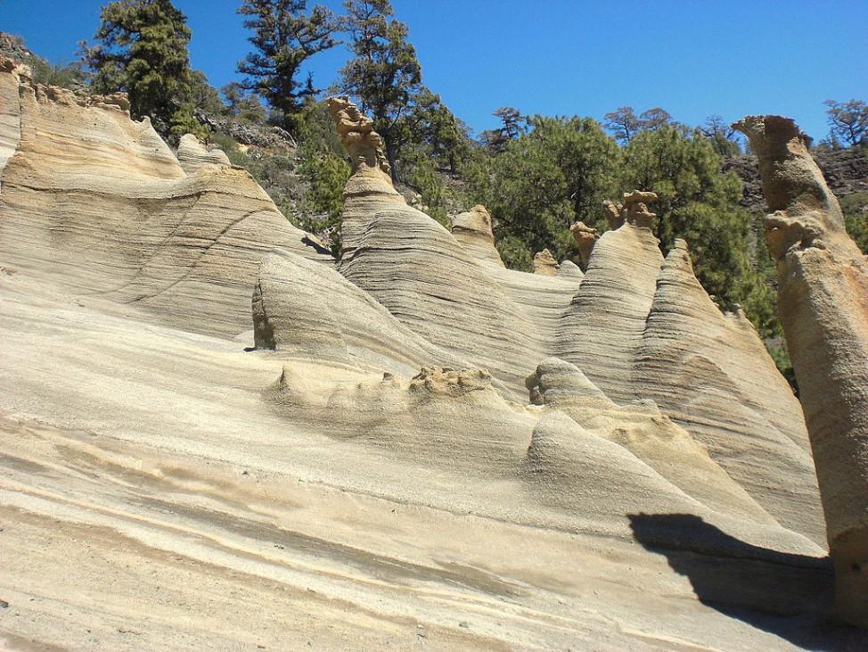Paisaje Lunar heißen diese Felsformationen auf Teneriffa.