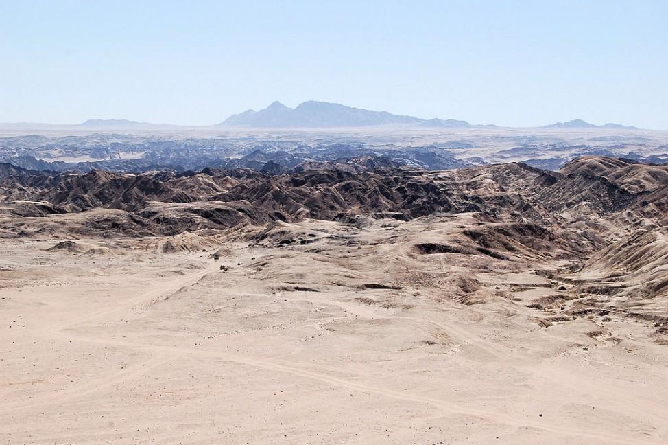 Die Moon Landscape in Namibia