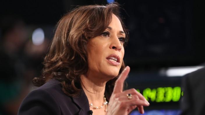 USA - Die Demokratin Kamala Harris in einer TV-Debatte 2019