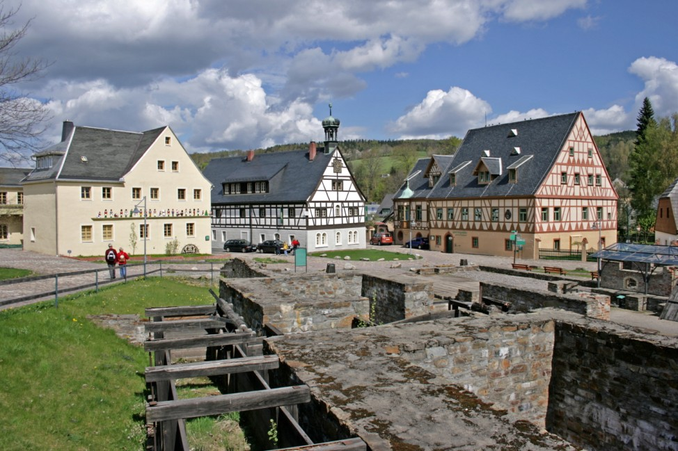 14-DE Travaux de liquidation de l''argent et du cuivre à Grünthal ; Unesco Antrag Welterbe Deutschland Erzgebirge Grünthal Bergbau Montanregion Erzgebirge
