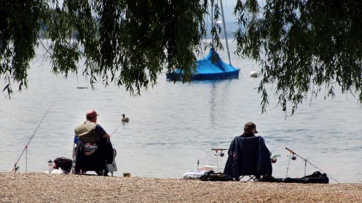 Angler am Ammersee; Geruhsame Zeiten