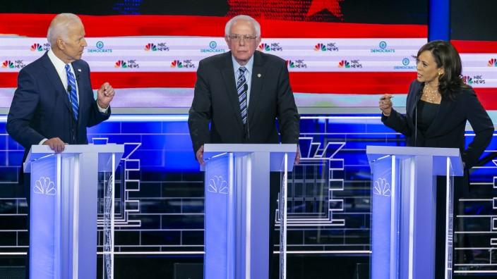 Joe Biden, Bernie Sanders und Kamala Harris