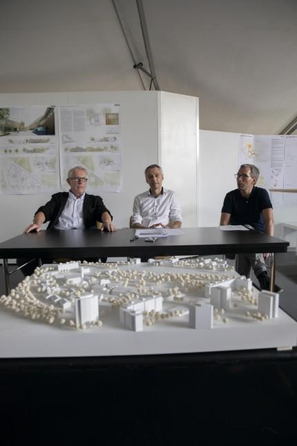 Pressekonferenz Architektur Wettbewerb Puchheim im Kulturzentrum PUC