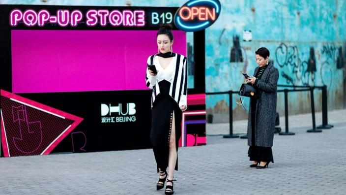 Street Style Photos during China Fashion Week 2018