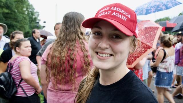 Trump Washington Lincoln 4. Juli Unterstützer Gegner