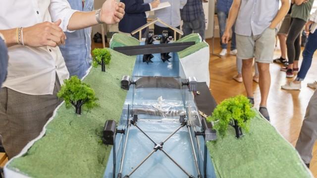 Englischer Garten: Mit Wasserkraftschnecken könnte man Strom erzeugen.