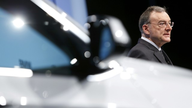 German premium automaker BMW CEO Reithofer addresses company's annual news conference in Munich