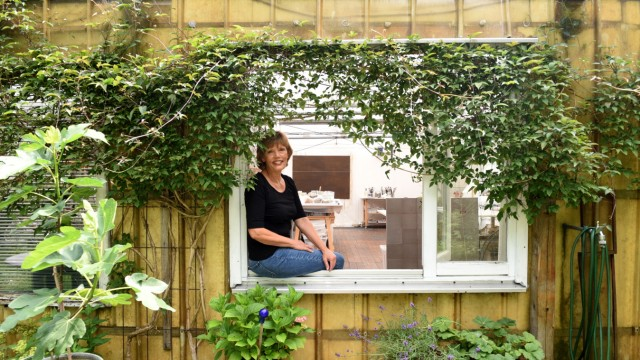 München: Trisha Kanellopoulos in ihrem Atelier.