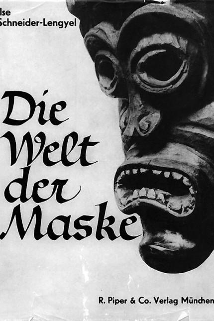 Schneider-Lengyel; Ilse Schneider-Lengyel - Umschlag und Einband von Die Welt der Maske, 1934, gestaltet von Paul Renner