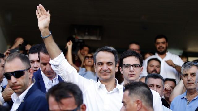 Wahlen in Greichenland 2019 - Kyriakos Mitsotakis in Athen
