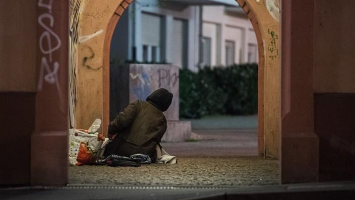 Obdachlose Person