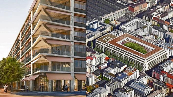 Im ehemaligen Postbank-Komplex soll ein neues Quartier entstehen.