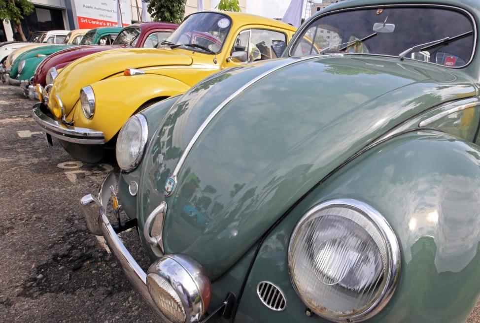 Volkswagen Beetles rally in Sri Lanka