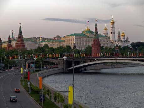 Moskau, Hauptstadt von Russland, dpa