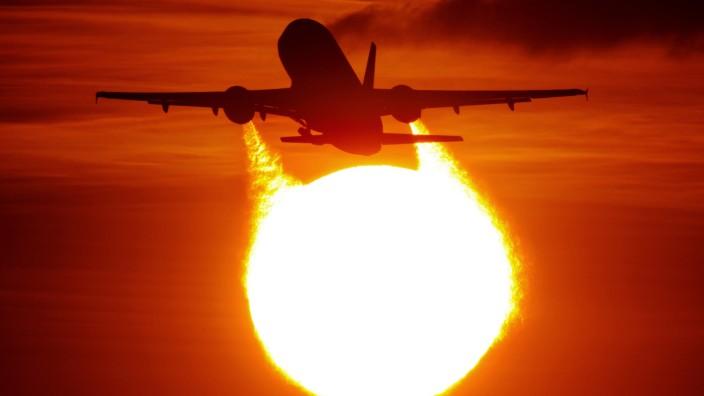 Startendes Flugzeug