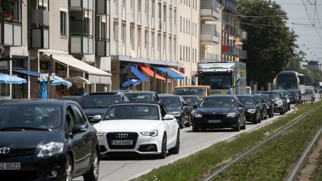 Autostau in München, 2019