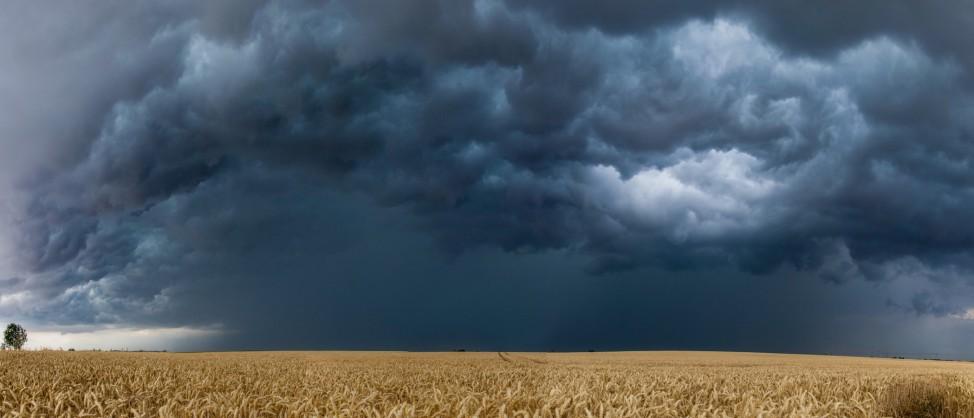 Unwetterfront bei Großenhain