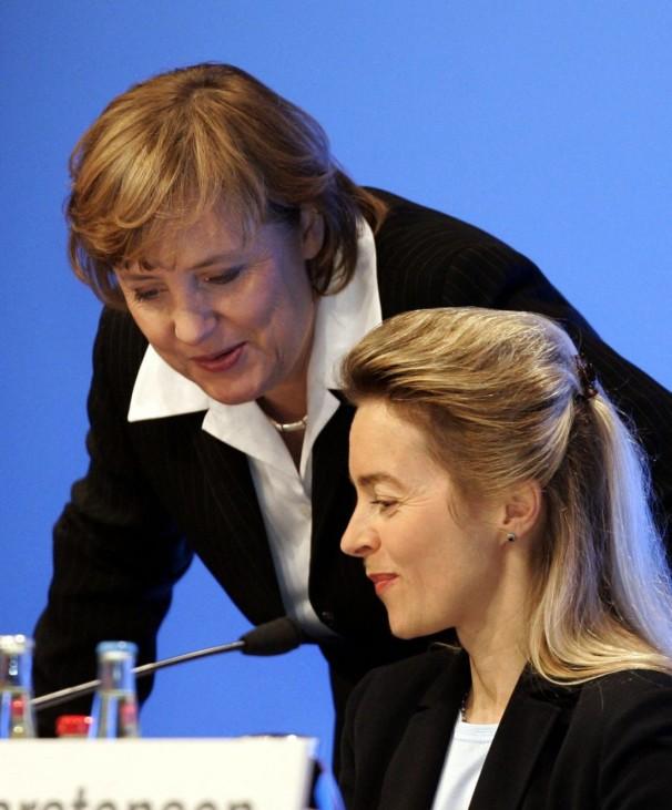 Angela Merkel, Ursula von der Leyen, CDU-Bundesparteitag, 2004