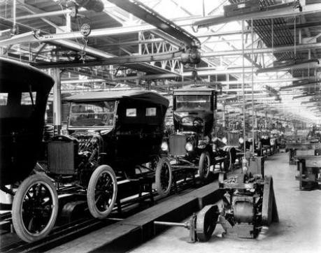 Ford T-Modell 1924 Produktionslinie