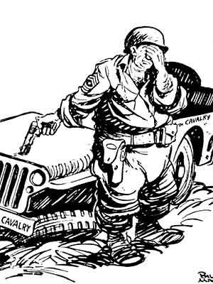Willys Jeep Karikatur