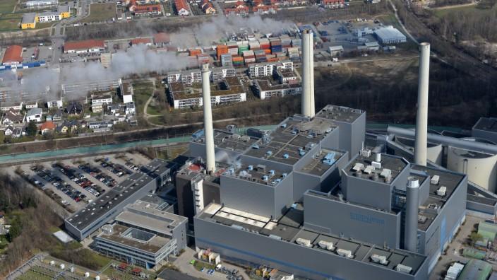 Heizkraftwerk München Nord in Unterföhring, 2019