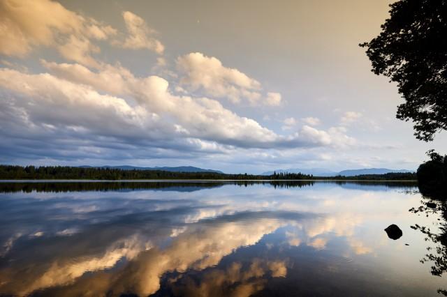 Kirchsee Wolken Abendstimmung