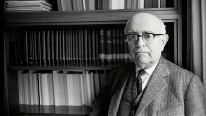 Theodor W. Adorno an der Universität Frankfurt, Januar 1969